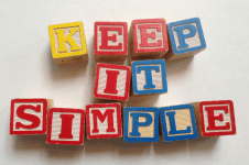 Keep it Simple White 2 small